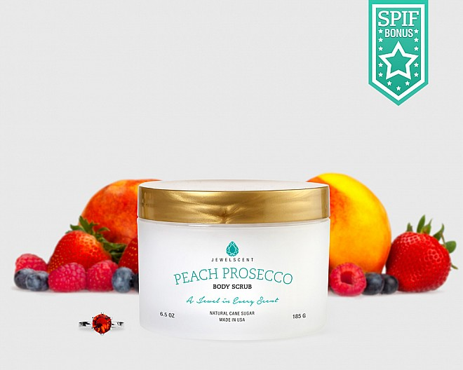 Peach Prosecco Body Scrub - Jewelry Body Scrub Soap | JewelScent