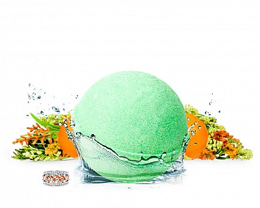 Fresh Mandarin Herb Jewelry Bath Bomb