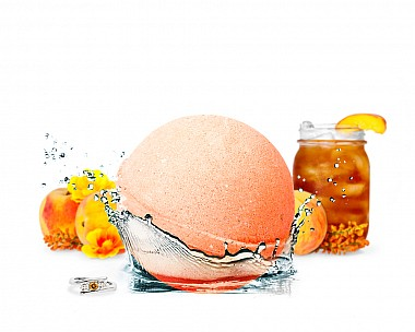 Peach Royal Tea Jewelry Bath Bomb