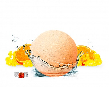 Sun-kissed Nectarine Jewelry Bath Bomb