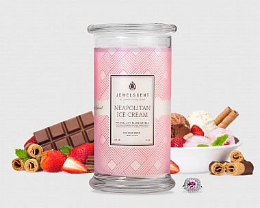 Neapolitan Ice Cream Candle
