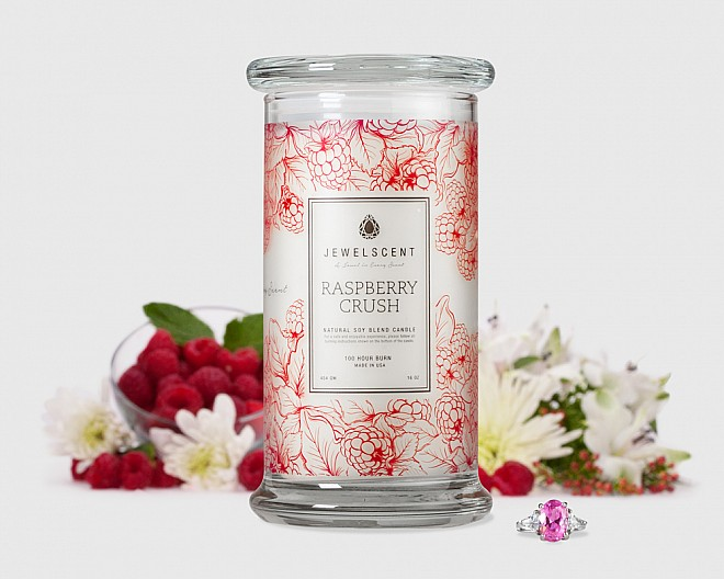 Raspberry Crush Candle Jewelry Candles Jewelscent