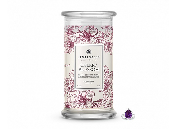 Cherry Blossom Jewelry Candle