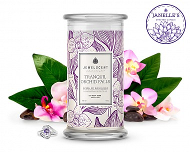 Tranquil Orchid Falls Candle