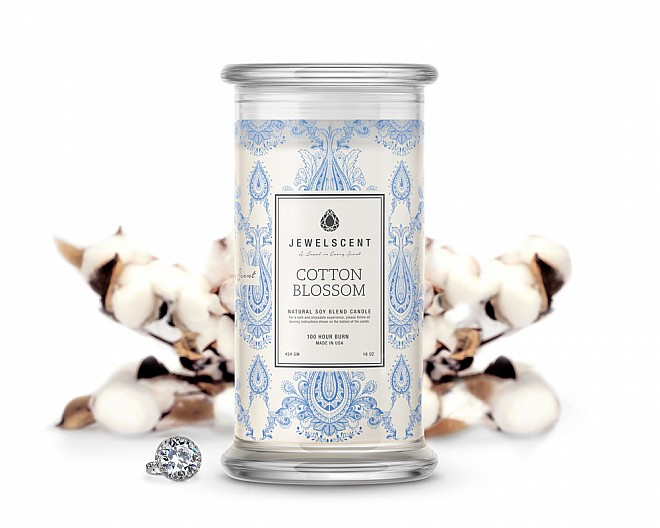 Cotton Blossom Jewelry Candle