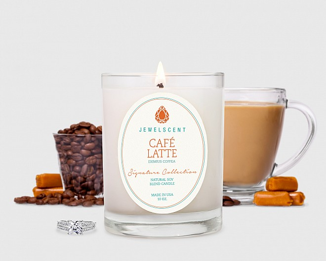 Signature Cafe Latte Candle