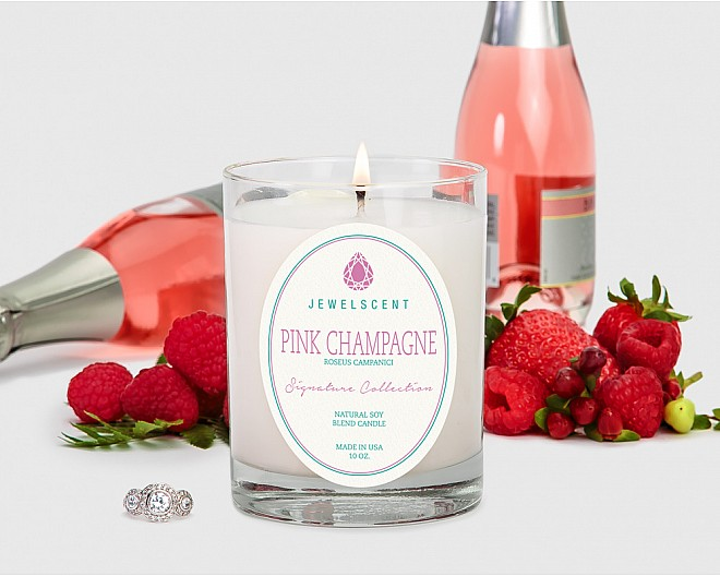 Signature Pink Champagne Candle