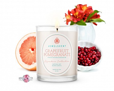 Signature Grapefruit Pomegranate Jewelry Candle