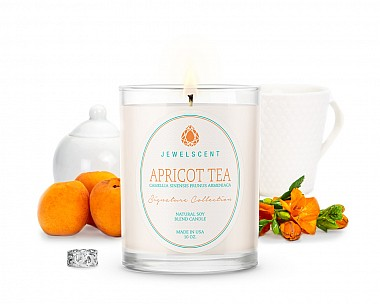 Signature Apricot Tea Jewelry Candle