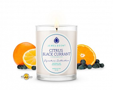 Signature Citrus Black Currant Candle