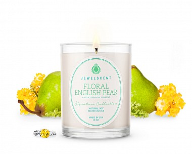 Signature Floral English Pear Jewelry Candle