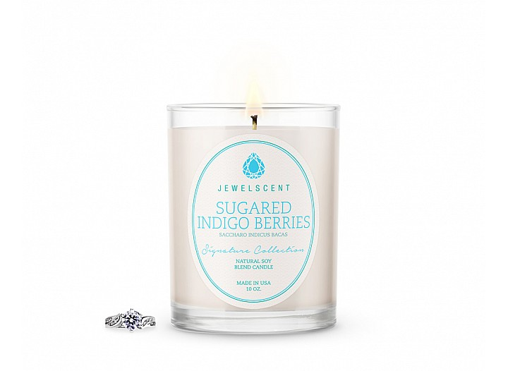 Signature Sugared Indigo Berries Jewelry Candle