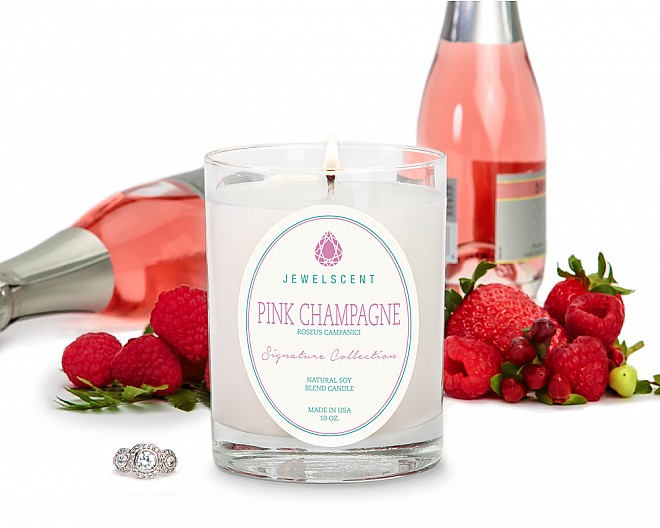 Signature Pink Champagne Jewelry Candle