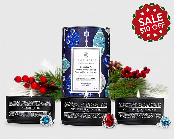 2016 Holiday Trio 3-Tin Candle Set