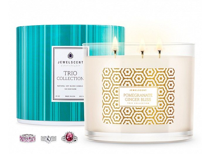Trio Pomegranate Ginger Bliss Jewelry Candle