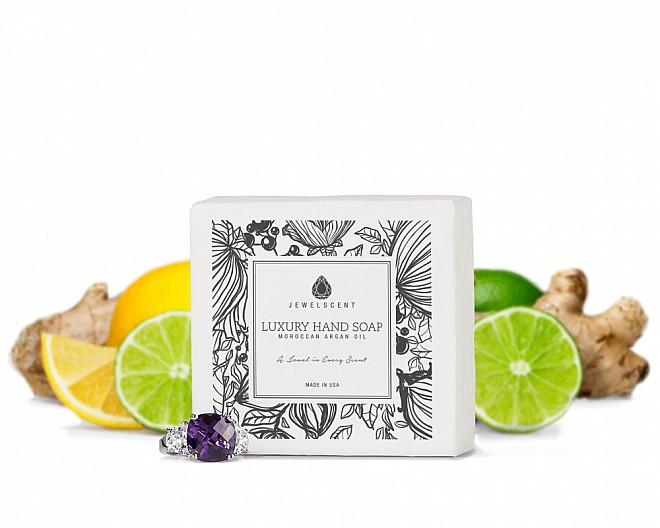 Lemon Lime Ginger Moroccan Argan Oil Jewelry Hand Soap