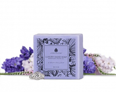 Lilac Blossom Moroccan Argan Oil Jewelry Hand Soap