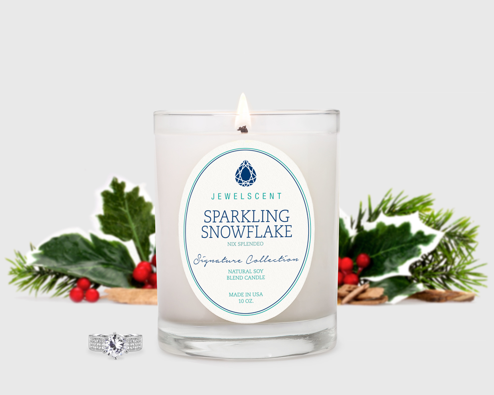 Signature Sparkling Snowflake Candle