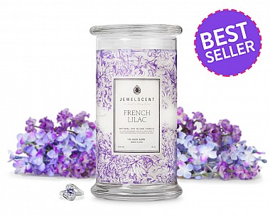 French Lilac Jewelry Candle