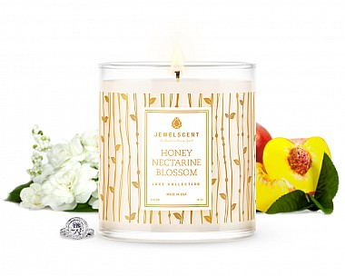 Luxe Honey Nectarine Blossom Jewelry Candle