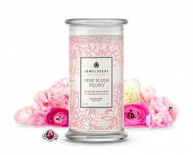 Pink Blush Peony Jewelry Candle