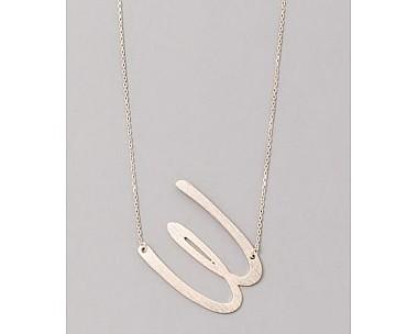 Oversized W Necklace