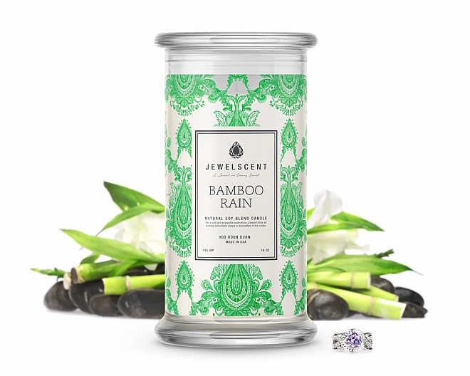 Bamboo Rain Jewelry Candle
