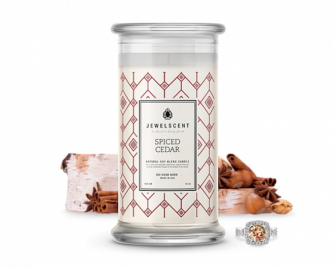Spiced Cedar Jewelry Candle