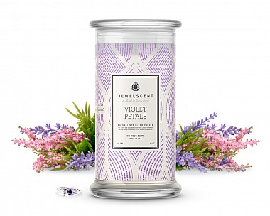 Violet Petals Jewelry Candle