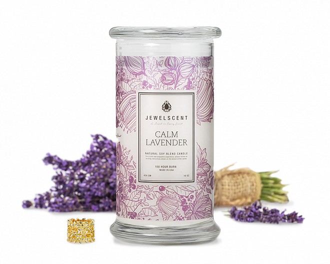 jewelry in a candle calm lavender jewelry candle 4443