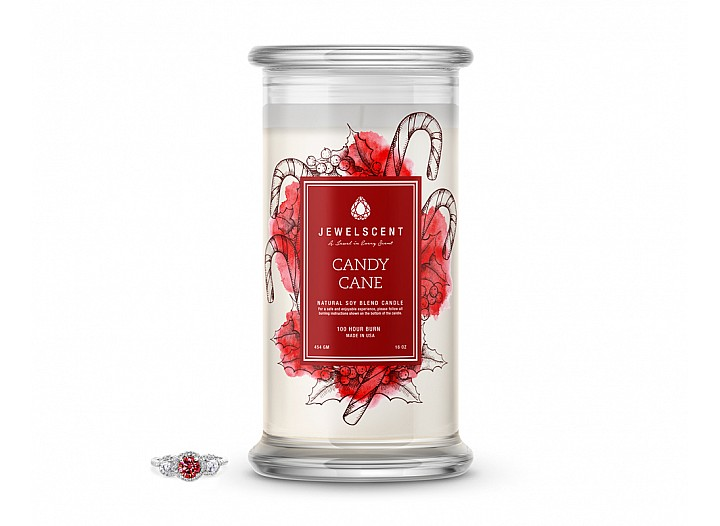 Candy Cane Jewelry Candle