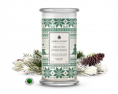 Frosted Evergreen Jewelry Candle
