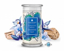 Turquoise Waves Jewelry Candle
