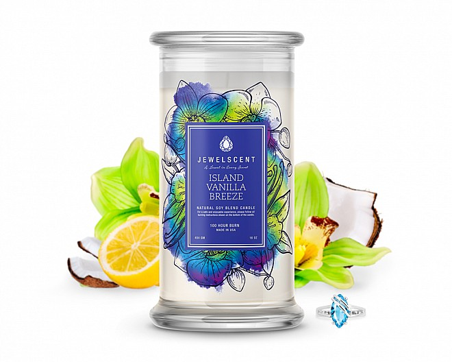 Island Vanilla Breeze Jewelry Candle
