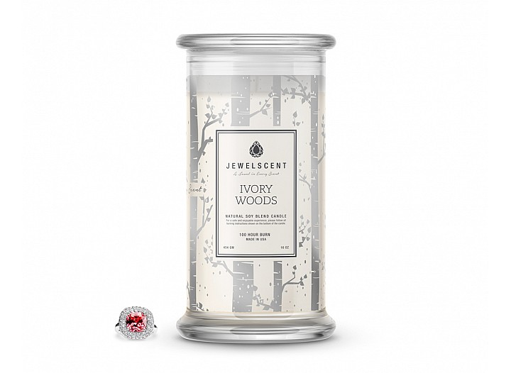 Ivory Woods Jewelry Candle