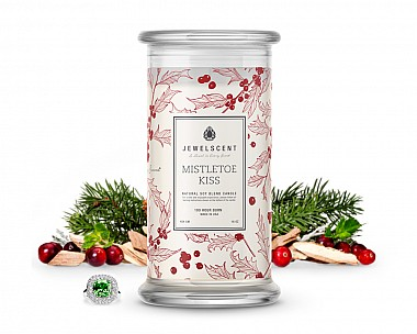 Mistletoe Kiss Jewelry Candle