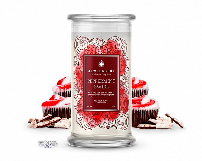 Peppermint Swirl Jewelry Candle