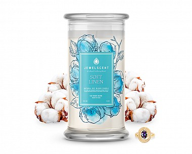 Soft Linen Jewelry Candle