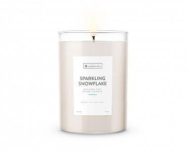 Essentials Tall Sparkling Snowflake Candle