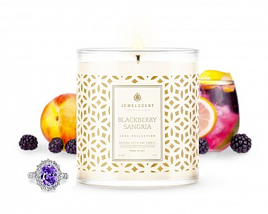 Luxe Blackberry Sangria Jewelry Candle