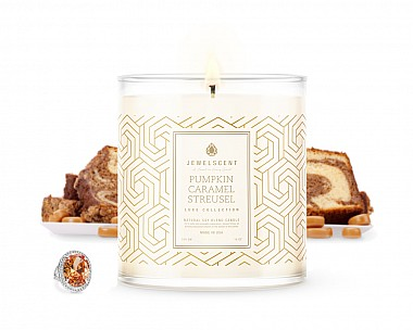 Luxe Pumpkin Caramel Streusel Jewelry Candle
