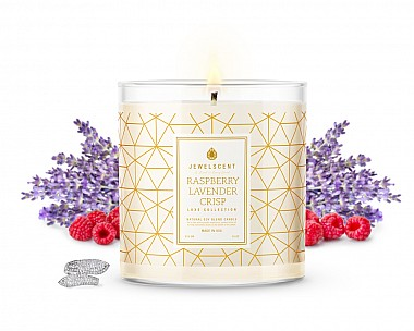 LUXE Raspberry Lavender Crisp Jewelry Candle