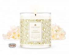LUXE Ivory Cashmere Jewelry Candle
