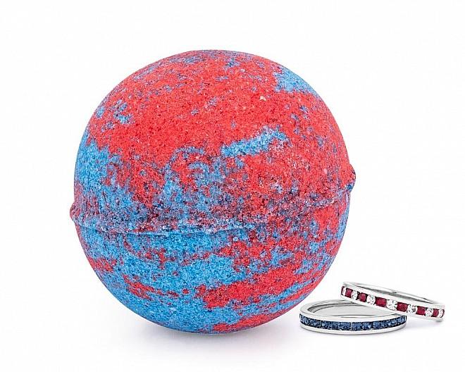 Blue Raspberry Slush Jewelry Ring Bath Bomb