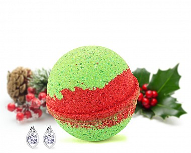Boughs of Holly Earrings Bath Bomb