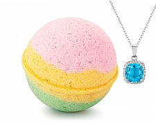Bunny Kisses Jewelry Necklace Bath Bomb