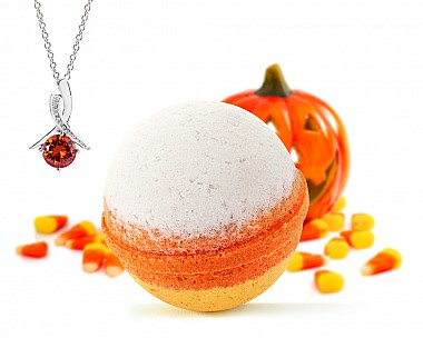 Candy Corn Necklace Bath Bomb