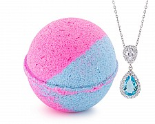 Cotton Candy Jewelry Necklace Bath Bomb