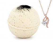 Ginger Black Tea Jewelry Necklace Bath Bomb