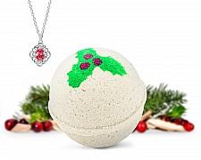 Mistletoe Kiss Necklace Bath Bomb